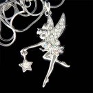 Swarovski Crystal Pixie Star Tinkerbell Fairy Pendant Necklace
