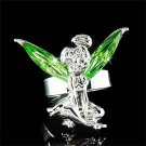 Green Swarovski Crystal Fairy Magic Tinkerbell Tinker Bell Ring