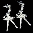 Ballerina Ballet Dancer Dance Swarovski Crystal Stud Earrings
