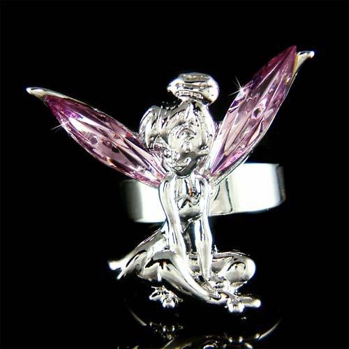 Purple Swarovski Crystal Fairy Magic Tinkerbell Tinker Bell Ring