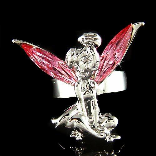 Pink Swarovski Crystal Fairy Magic Tinkerbell Tinker Bell Ring