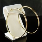 "2 1/2""(60mm) Large 14K Gold-Plated Round Hoop Clip On Earrings"