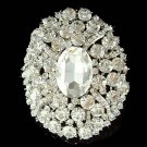 Bridal Swarovski Crystal Oval Sash Bouquet Wedding Dress Brooch