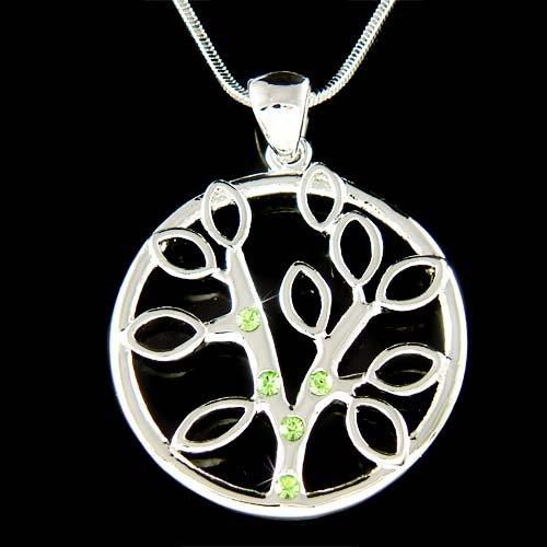 Swarovski Crystal Circle of Life Family Tree Pendant Necklace