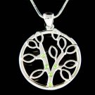 Swarovski Crystal Circle of Life Family Tree Pendant Necklace