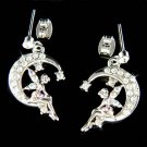 Swarovski Crystal Tinker Pixie Faiy Tinkerbell in Moon Earrings