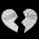Swarovski Crystal You & Me Best Friends Heart Lover Earrings