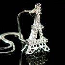 Paris Swarovski Crystal Eiffel Tower Souvenir Pendant Necklace