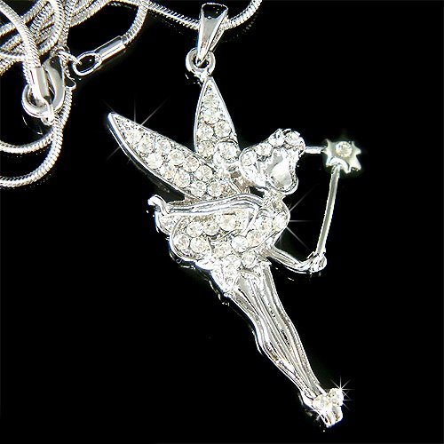 Swarovski Crystal Tinker Bell Tinkerbell Magic Wand Necklace New