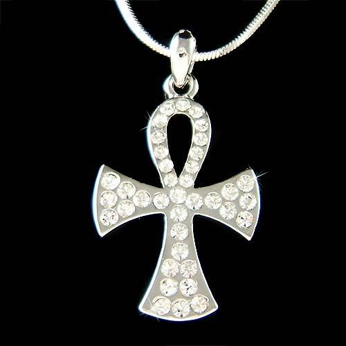 Swarovski Crystal Holy Cross Jesus Christ God Religious Necklace