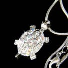 Swarovski Crystal Sea Turtle Tortoise Pendant Girls Necklace