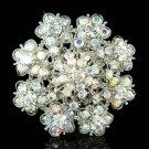 Swarovski Crystal Flower Floral Cluster Bouquet Pendant Brooch