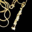 Swarovski Crystal GP Woodwind Clarinet Music Instrument Necklace