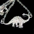 Swarovski Crystal Brachiosaurus Dinosaur Pendant Girls Necklace