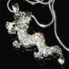 Legendary Myth Clear Dragon Swarovski Crystal Pendant Necklace