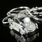 3D VW Beetle Car Volkswagen Swarovski Crystal Pendant Necklace