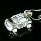 3D VW Beetle Volkswagen Car Swarovski Crystal Pendant Necklace