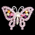 Swarovski Crystal Bridal Wedding Party Purple Butterfly Brooch