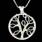Swarovski Crystal Circle of Life Family Celtic Tree Pendant Necklace