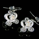 Swarovski Crystal Cinderella Pumpkin Flower Carriage Earrings