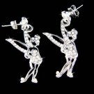 Swarovski Crystal Tinker Bell Fairy Tinkerbell Pixie Earrings