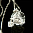 Fleur De Lis New Orleans Saints Football Helmet Crystal Necklace