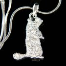 Swarovski Crystal Squirrel Prairie dog Marmot Pendant Necklace