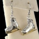 Swarovski Crystal 3D Ice Skating Skate Figure Hockey Earrings
