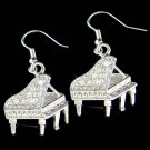Swarovski Crystal Baby Grand Piano Musical Instrument Earrings