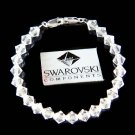 Swarovski Crystal Clear Medical ID Alert Sterling Silver Bracelet