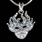 Swarovski Crystal Mardi Gras Party Masquerade Mask Halloween Necklace