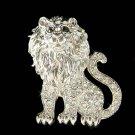 Swarovski Crystal Lion African Safari King of the jungle Pin Brooch