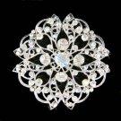 Swarovski Crystal Mandala Filigree Round Flower Brooch Bridal Jewelry