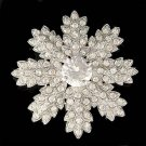 Swarovski Crystal Big Christmas Snowflake Holiday Flower Pin Brooch