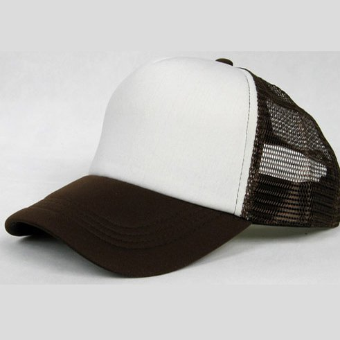 NEW CASUAL TRUCKER HAT CAP (COFFEE & WHITE)