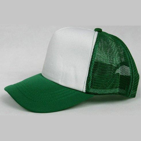 NEW CASUAL TRUCKER HAT CAP (GREEN & WHITE)