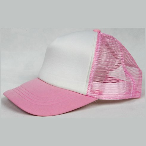 NEW CASUAL TRUCKER HAT CAP (PINK & WHITE)