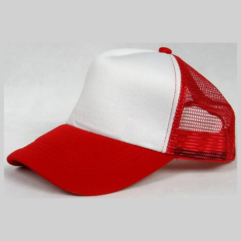 NEW CASUAL TRUCKER HAT CAP (RED & WHITE)