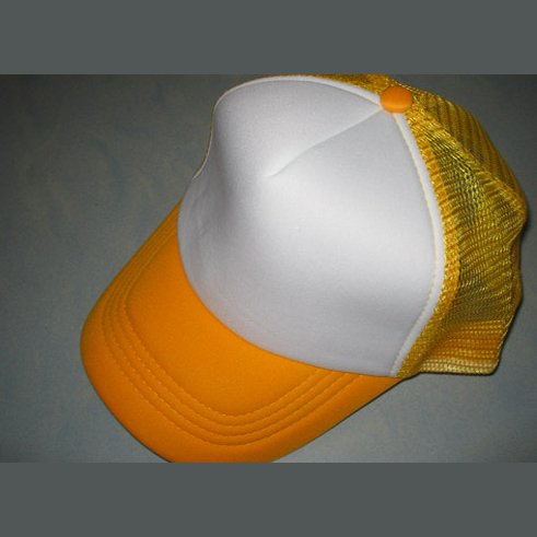 NEW CASUAL TRUCKER HAT CAP (YELLOW & WHITE)