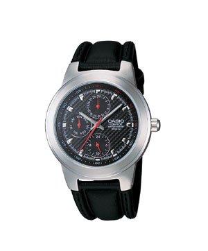 Casio Edifice 3 Eye Leather Watch
