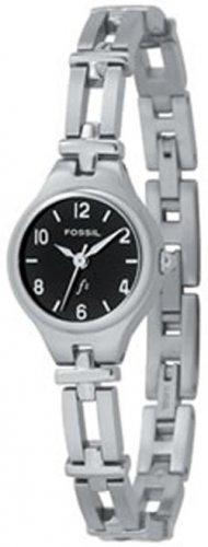 Fossil F2 Black Dial Ladies Silver Watch Es9745