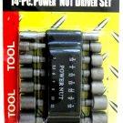 2PC LOT  OF POWER NUT DRIVERS 14PC SET