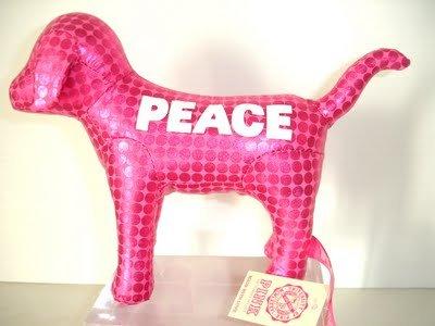 VICTORIA'S SECRET HOT PINK MINI DOG METALLIC NEW WITH TAG