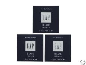 3 x GAP BLUE FOR HIM NO 655 EDT PERFUME MEN 50 ML/ 2 OZ