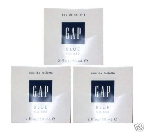 3 x GAP BLUE FOR HER NO 655 EDT PERFUME PARFUME 50 ML