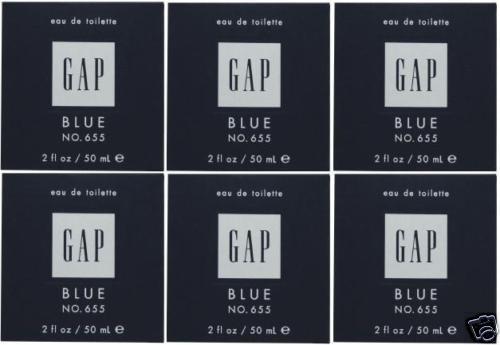 6 x GAP BLUE FOR HIM NO 655 EDT PERFUME MEN 50 ML/ 2 OZ