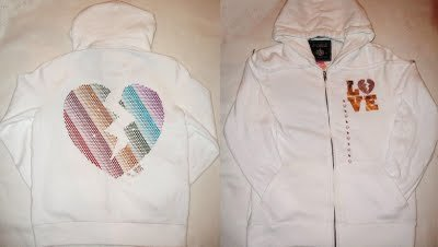VICTORIA SECRET PINK BLING HEART HOODIE JACKET SIZE L