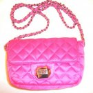 VICTORIA SECRET PINK SATIN CHAIN PURSE CROSSBODY BAG