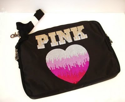 VICTORIA'S SECRET PINK MESSENGER LAPTOP CASE BAG BLING