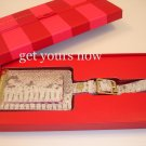 2 x VICTORIA SECRET PYTHON LUGGAGE TAG SNAKE SKIN RARE